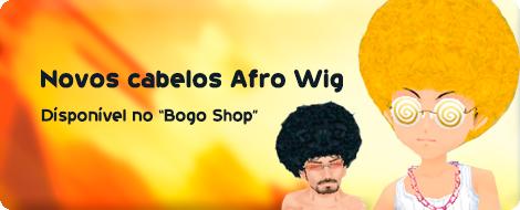 Afro Wig, os novos estilos de cabelos para todos os personagens.