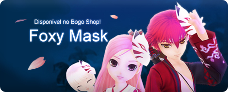 Novo acessório Foxy Mask disponível no Bogo Shop